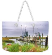 Lowcountry Shrimp Dock Weekender Tote Bag