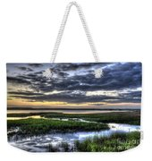 Cloud Reflections Over The Marsh Weekender Tote Bag