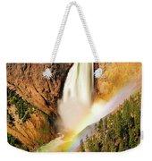 Lower Falls Rainbow Weekender Tote Bag