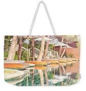Luxury Pool With Loungers Weekender Tote Bag