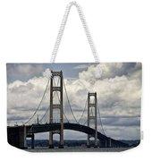 Mackinaw Bridge By The Straits Of Mackinac Weekender Tote Bag