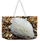 Macro Shell On Sand Weekender Tote Bag