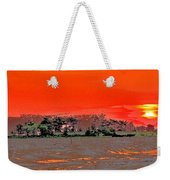 Louisiana Sunset Of The Madisonville Lighthouse  Weekender Tote Bag