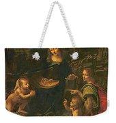 Madonna Of The Rocks Weekender Tote Bag by Leonardo da Vinci