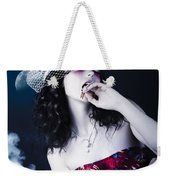 Makeup Beauty With Gothic Hair And Bloody Mouth Weekender Tote Bag