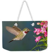 Male Broad-tailed Hummingbird Weekender Tote Bag