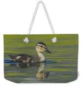 Mallard Duck Swimming In Marsh Pond Weekender Tote Bag