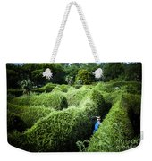 Man Lost Inside A Maze Or Labyrinth Weekender Tote Bag