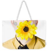 Man With Flower In Mouth Weekender Tote Bag