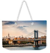 Manhattan Bridge Weekender Tote Bag