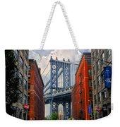 Manhattan Bridge View Weekender Tote Bag