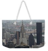 Manhattan From The Empire State Building Weekender Tote Bag