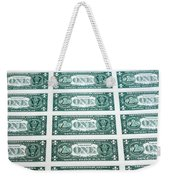 Many One Dollar Bills Side By Side Weekender Tote Bag