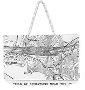 Map Panama Canal, 1885 Weekender Tote Bag