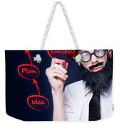 Marketing Business Man Drawing Success Diagram Weekender Tote Bag