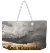 Marshmallow - Bubbling Storm Cloud Over Wheat In Kansas Weekender Tote Bag