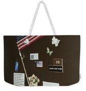 Mary Ann Guss' Patriotic Door Baldwin City Kansas 2002 Weekender Tote Bag