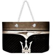 Maserati Hood - Grille Emblems Weekender Tote Bag