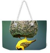Masked Weaver At Nest Weekender Tote Bag