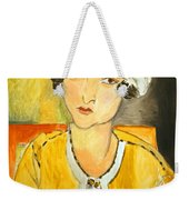 Matisse's Lorette With Turban And Yellow Jacket Weekender Tote Bag