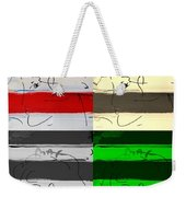 Max Woman In Quad Colors Weekender Tote Bag
