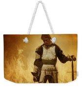 Medieval Knight On A Burning Battlefield Weekender Tote Bag