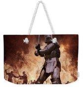 Medieval Knights In Battle Weekender Tote Bag