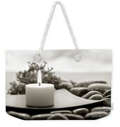 Meditation Candle Weekender Tote Bag
