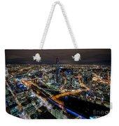 Melbourne At Night Vi Weekender Tote Bag