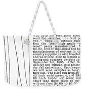 Men's Fashion, 1895 Weekender Tote Bag