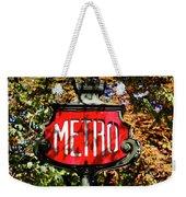 Metro Sign, Paris, France Weekender Tote Bag