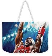 Michael Jordan Artwork Weekender Tote Bag by Sheraz A