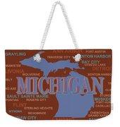 Michigan State Pride Map Silhouette  Weekender Tote Bag