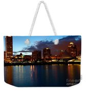 Milwaukee Skyline At Dusk Weekender Tote Bag