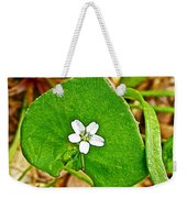 Miner's Lettuce In Park Sierra Near Coarsegold-california  Weekender Tote Bag