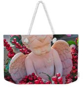 Mischevious Little Cherub Takes A Pee Weekender Tote Bag