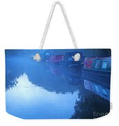 Misty Morning On The Grand Union Canal Weekender Tote Bag
