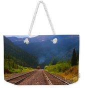 Misty Mountain Train Weekender Tote Bag