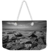 Misty Rocks Bw Weekender Tote Bag