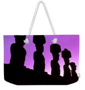 Moais Easter Island Chile Weekender Tote Bag