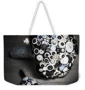 Modern Button Design Wedding Bouquet Weekender Tote Bag