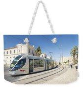 Modern Tram In Central Jerusalem Israel Weekender Tote Bag