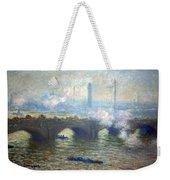 Monet's Waterloo Bridge On A Gray Day Weekender Tote Bag