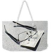 Money And Eyeglasses Weekender Tote Bag
