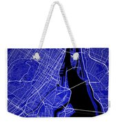 Montreal Street Map - Montreal Canada Road Map Art On Colored Ba Weekender Tote Bag