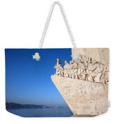 Monument To The Discoveries In Lisbon Weekender Tote Bag