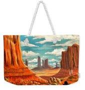 Monument Valley View Weekender Tote Bag
