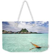 Moorea Woman Floating Weekender Tote Bag