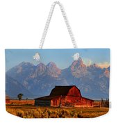 Mormon Row And The Grand Tetons  Weekender Tote Bag
