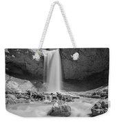 Mossy Cave Waterfall Bw Weekender Tote Bag